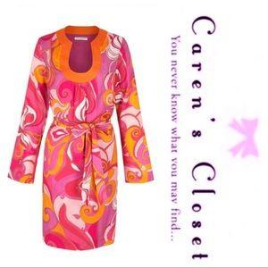 Trina Turk for BR Bonita Pink Swirl Tunic Dress